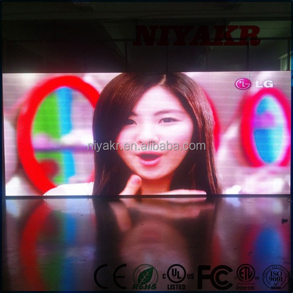 true color rgb glass window display p6 led panel hot selling led display