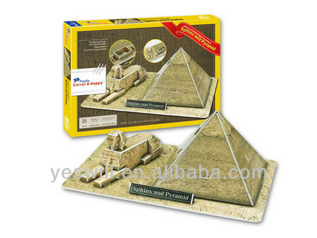 3D Puzzle of Sphinx And Pyramid (Egypt) (29PCS)