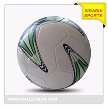 customized logo printing PVC material machine sewn with rubber bladder soccer ball football
