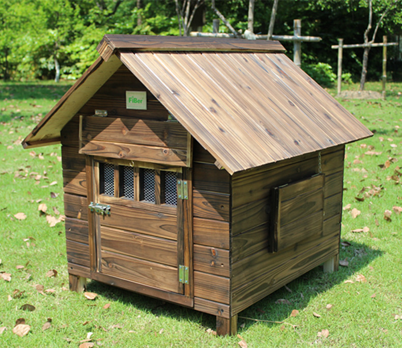 RoblionPet Wooden Dog Kennel Cages Factory Direct , Wholesale Outdoor Large Wooden Dog House For Sale Manufacturer
