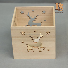 Animal Carved Box Type Candle Christmas Decoration Wooden light Box