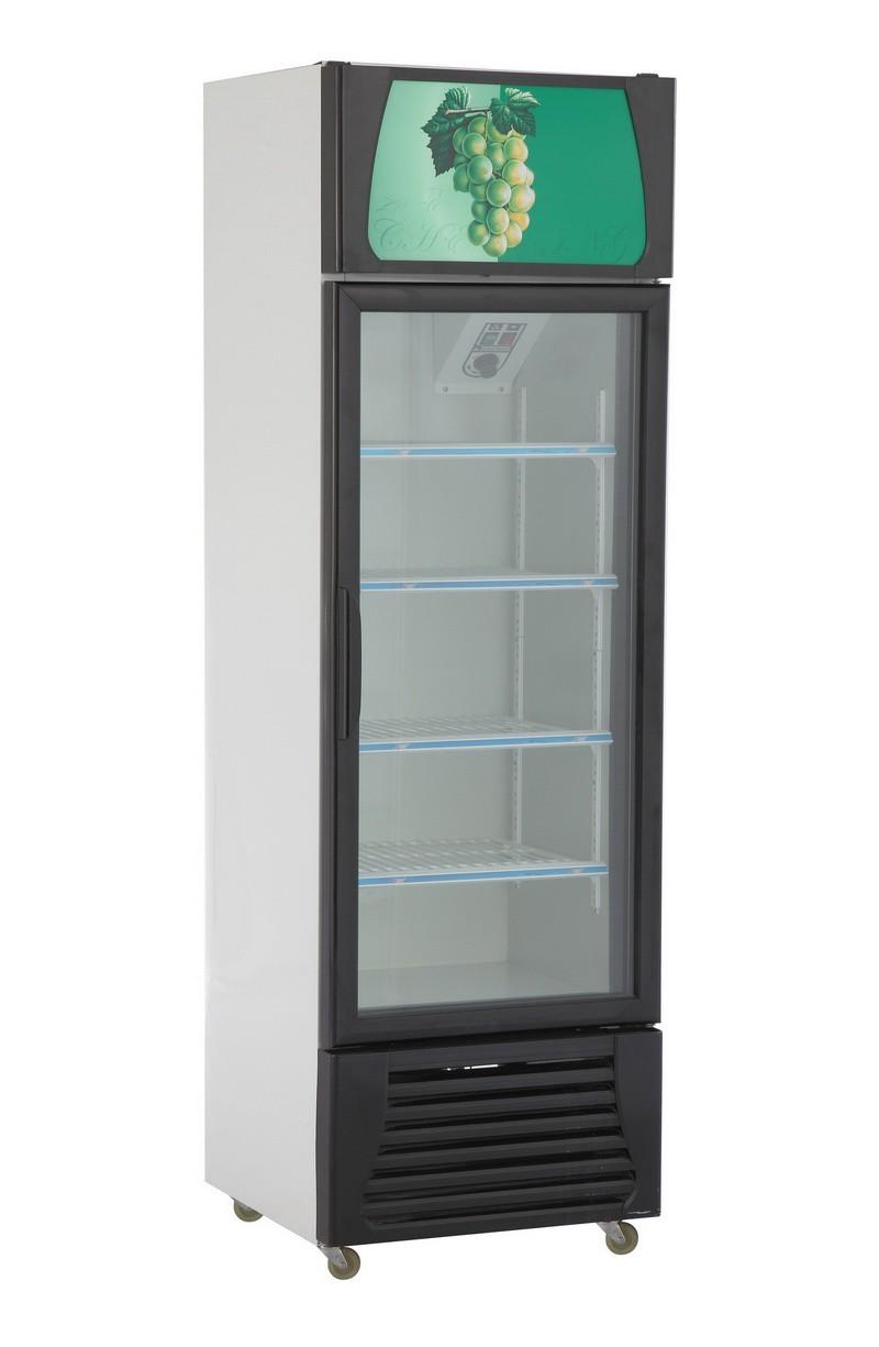 ... single glass door display fridge commercial freezer cold drink refrigerator  used for sale