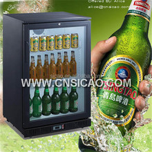 2018 Hot Selling CE RoHS EMC mini back bar fridge for beverage beer wines champagne bottle with glass door