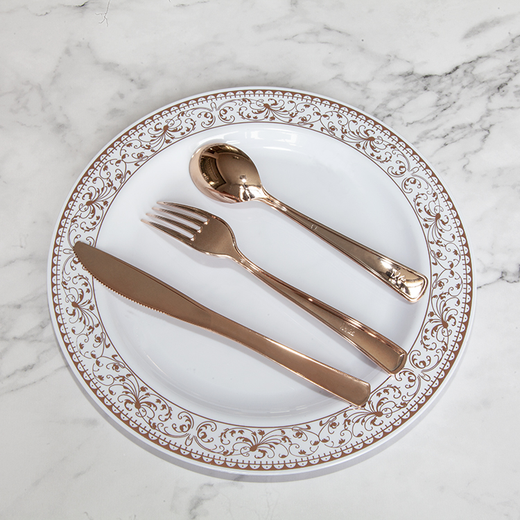 PS disposable custom pattern <strong>plate</strong> &amp; cutlery