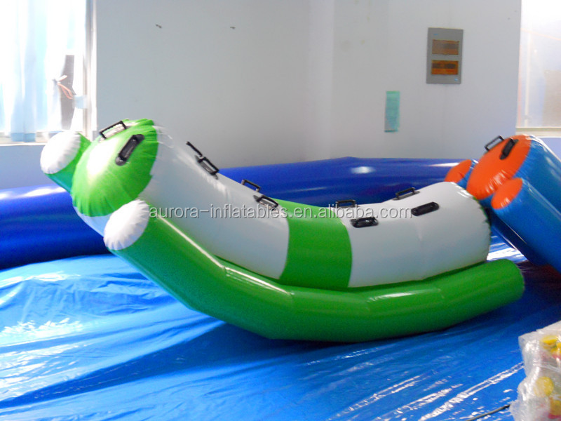 New design inflatable water totter games water seesaw