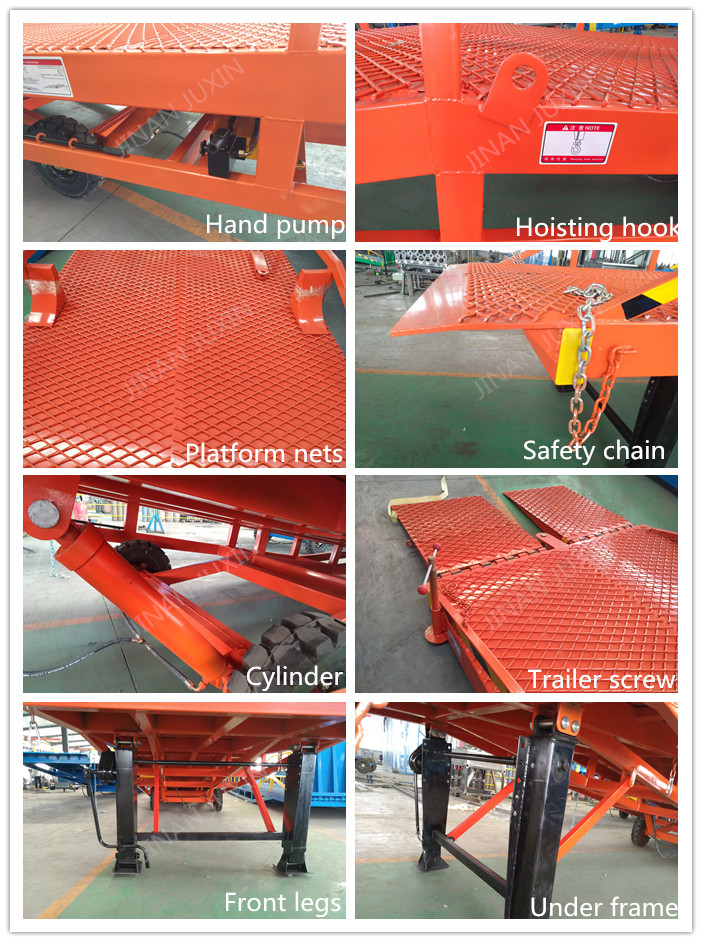 10-15 ton mobile adjustable loading container dock ramp for forklift