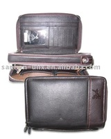 Genuine Leather briefcase with Zipper and Handle