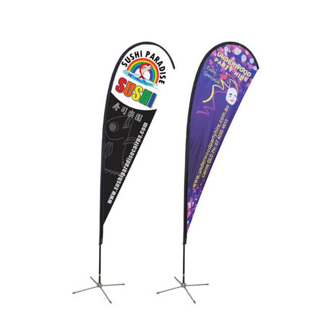 Cheap price teardrop banner / bow flag