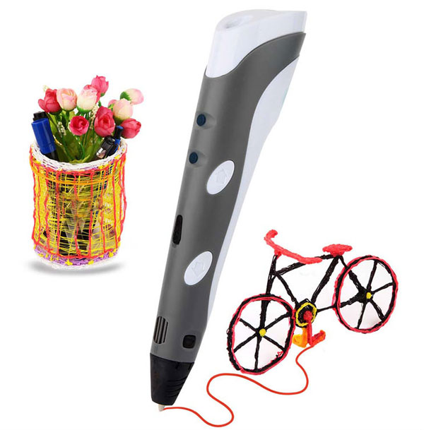 New products 2017 3d printing pen with free abs filament