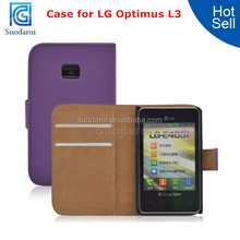 Wallet Pouch Case For LG Optimus L3 E400 E405 Mobile Phone Cover