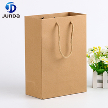China Manufacturers Wholesale Custom Printing Cheap Brown Kraft Paper Bags For Grocery