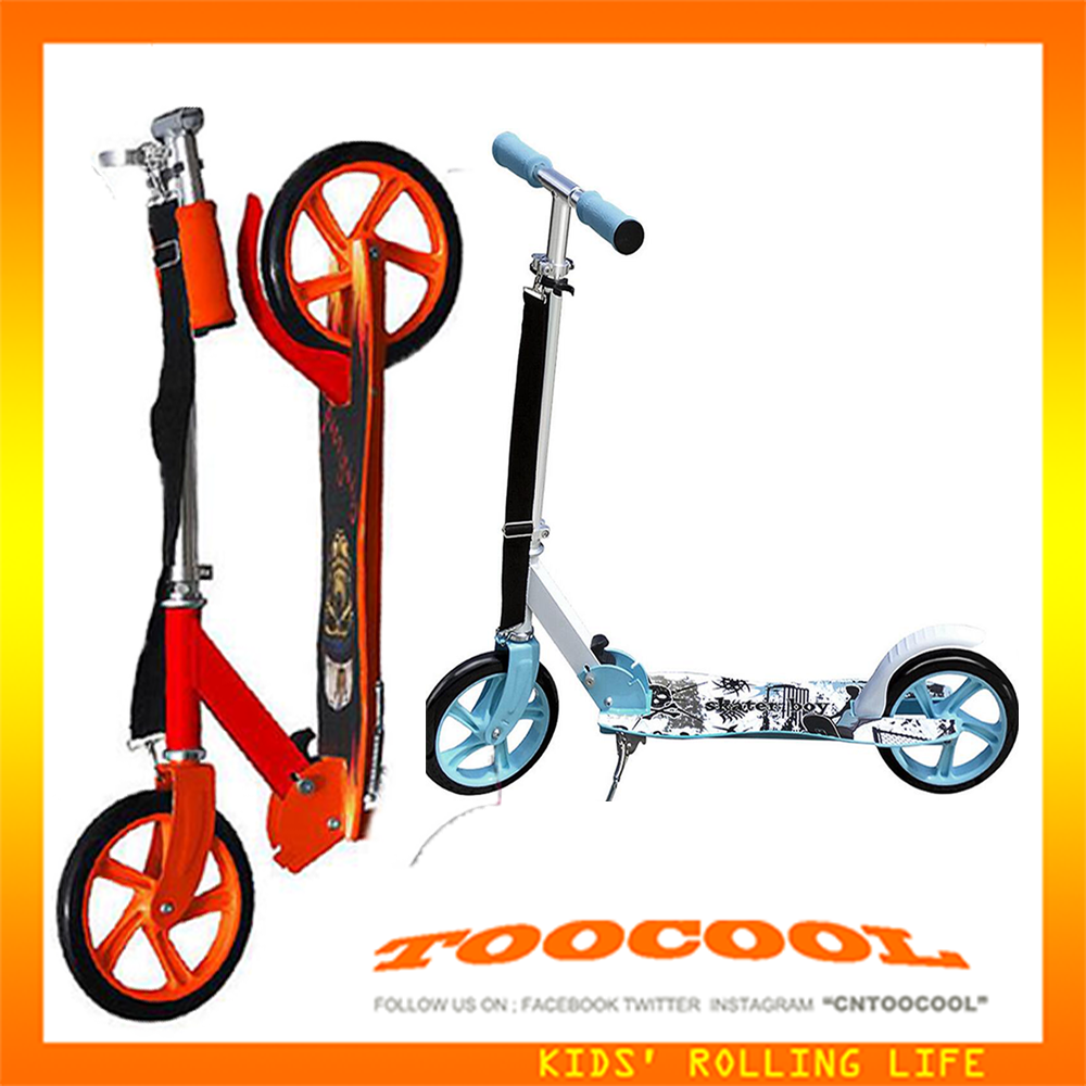 WG02 Flashing Foldable 2 Big Wheel Adult Toocool Kick Scooter