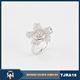 Guang zhou liwan rhodium plated sterling 925 silver ring