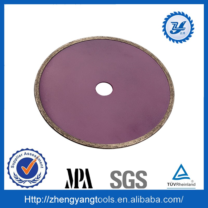 hot press sintered continuous rim diamond saw blade for cutting tile and plastic