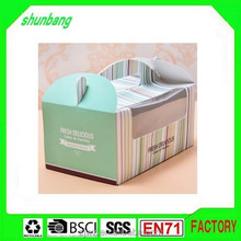 Baking packaging & paper frozen cake box with transparent window