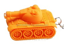 Tank model led keychain light cartoon traffic flashlight light torch light