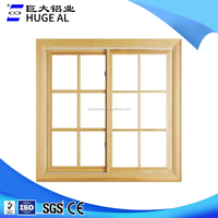 Factory custom price aluminum security casement grille windows