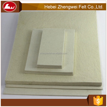 high quality hot sale white industrial 10mm thick wool felt