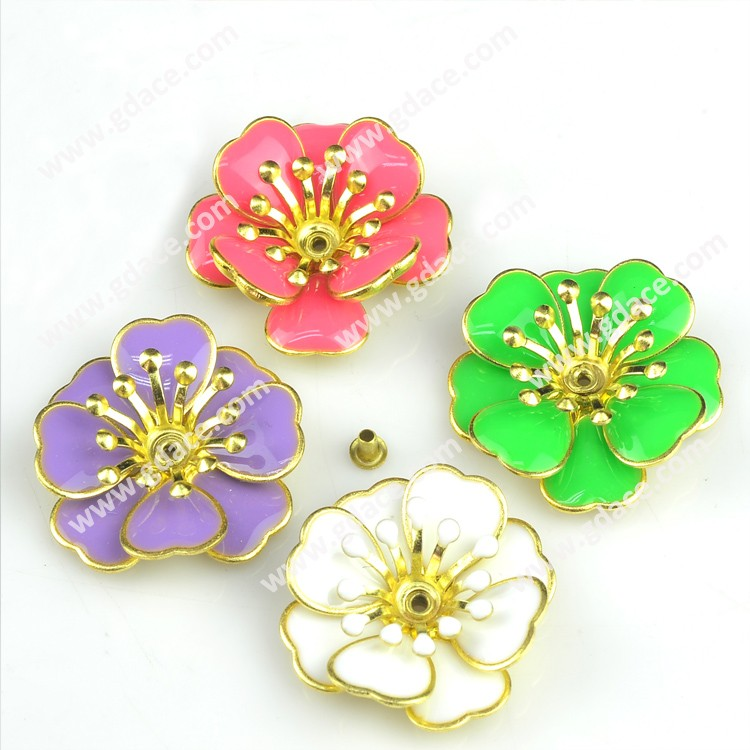 Small decorative craft metal flower antique imitation for Small flowers for crafts