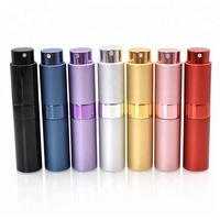 hot sale refilled 8ml perfume atomizer spray bottle with aluminium shell