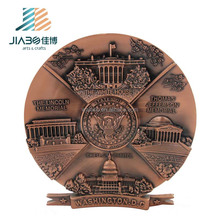 JiaBo custom antique color tourist souvenir thin zinc aluminium metal plate