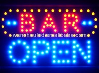 led open sign for coffee shop ,casino sign ,Poker Bar,
