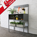 Metal Flower Pot Stand Steel Display Cabinet With Workbench And Hook Indoor Outdoor Garden