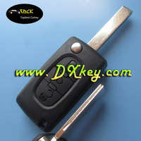 peugeot flip key car key cover with 3 buttons for peugeot 407 remote key with battery place