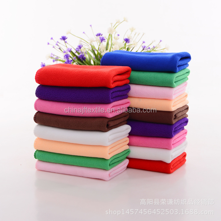 Solid color microfiber and terry towel cleaning cloth microfiber car wash towelJF20