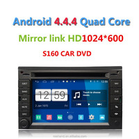 Newest S160 Android 4.4 Car DVD for VW Golf4/B5 with Wifi GPS Quad Core 1.4Ghz 1024*600HD support Camera/DVR