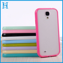Frosted Matte PC+Ture Solid Color Soft TPU Bumper Cover Case for Samsung Galaxy S4 i9500