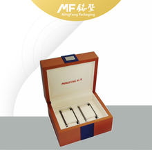 Customized Luxury Brown Leatherette MDF Watch Collecting Gift Box