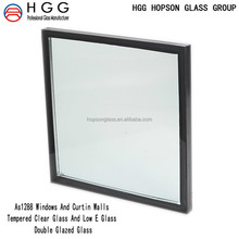 Custom Thickness Size Tempered insulated glass low E glass double glazed glass