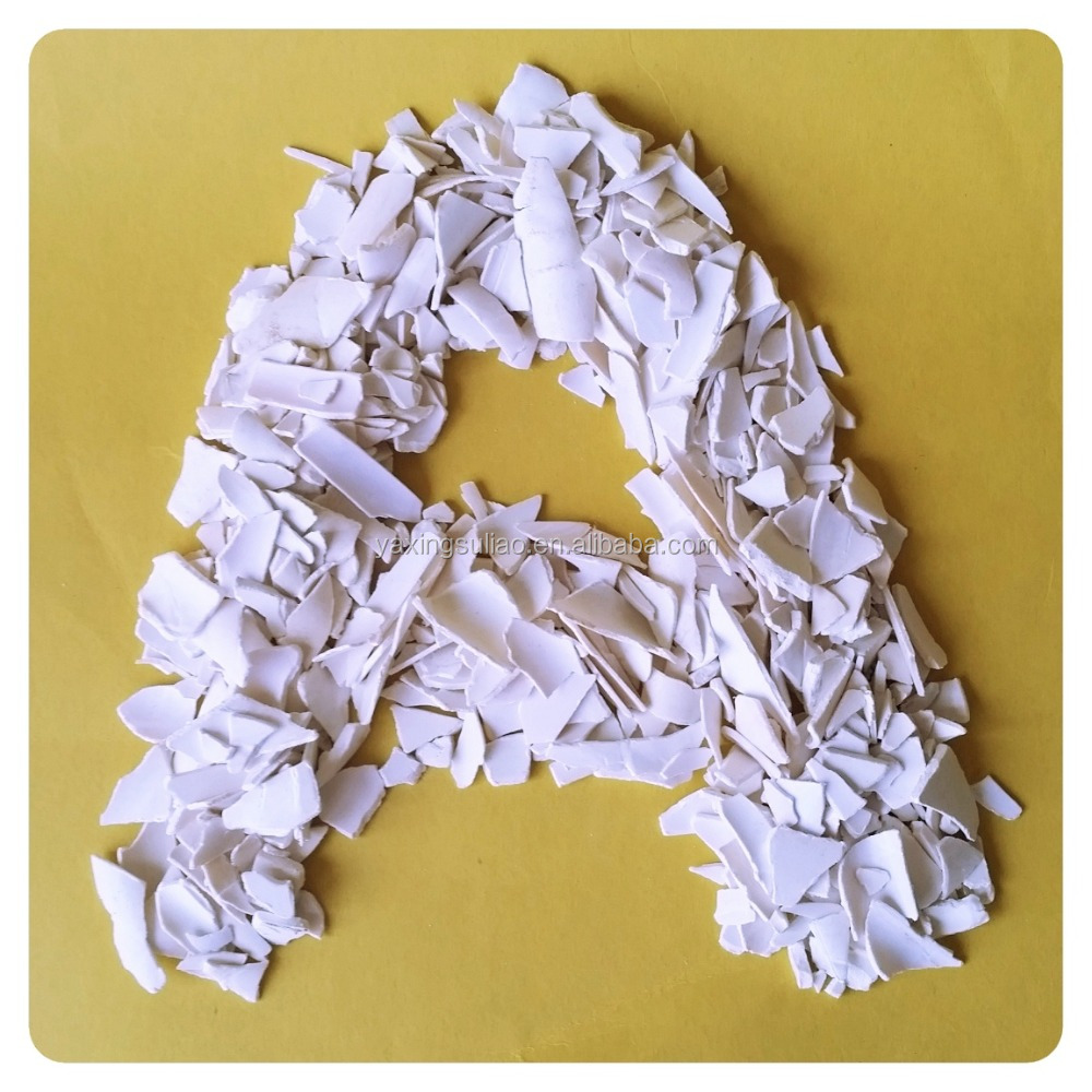 Top grade white color PVC recycling scrap of recycled white PVC pipes