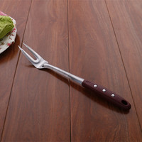 nice handle plastic cooking fork with food stainless steel