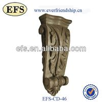 rubber wood carvings decorativer corbel for home decoration(EFS-CD-46)