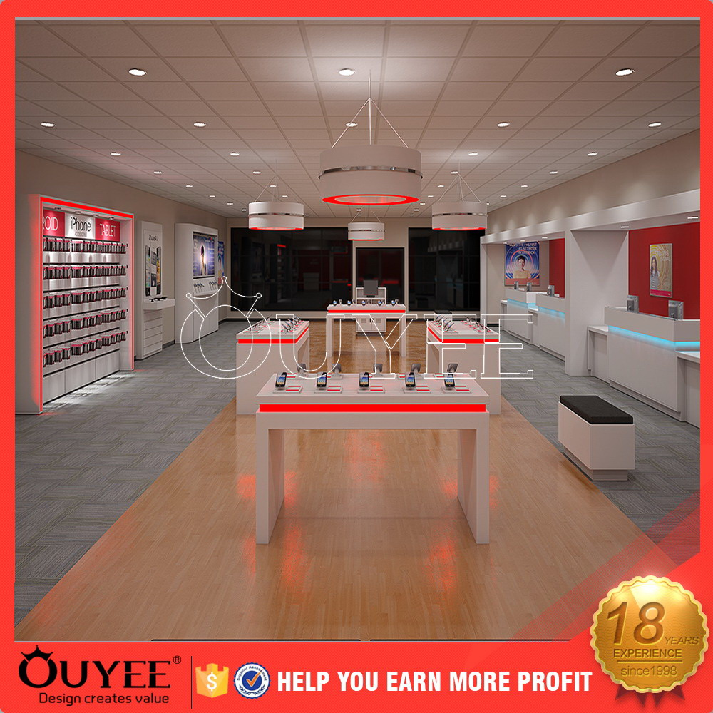 hot sale cell phone accessories kiosk shop interior design