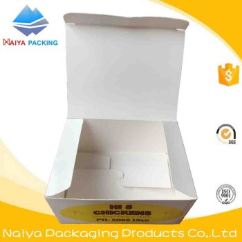 Kraft paper disposable fast food take-away packaging boxes wholesale