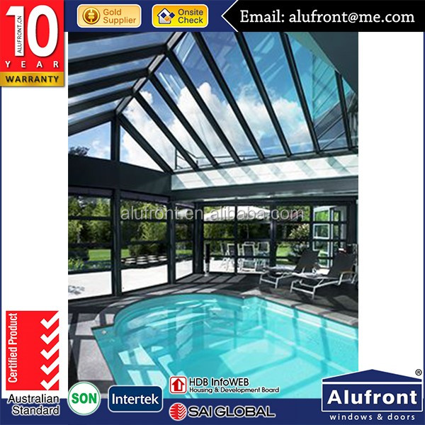 Customized Extruded Aluminum Extrusion Glass Garden Sunrooms