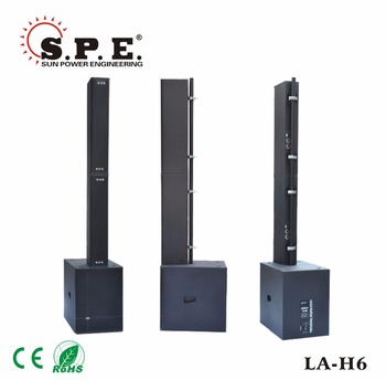 spe audio vertical array speaker la-h6 passive speaker sytem