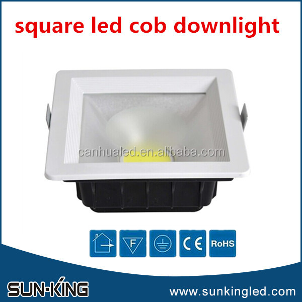 Good quality high efficient ceiling office shopping mall white 110V 220V square cob led harga lamp down light 30W