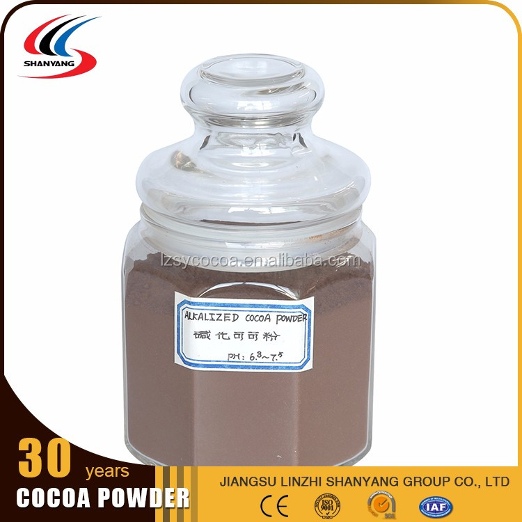 Hot sell organic unsweetened PH6.8-7.5alkalized cocoa powder Ghana Cocoa Bean