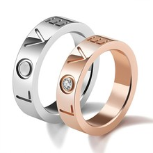 Marlary 2018 Simple Rose Gold Plated Jewelry Ring Gold Engagement Silver Stone Ring Sets