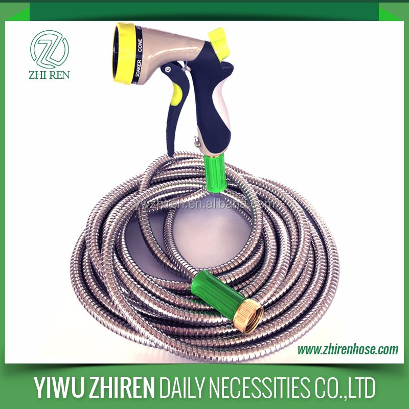 Metal Pipe Stainless Steel Flexible Hose With Nozzle Custom Length
