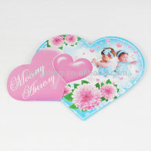 Happiness Wedding Shaped Paper cards
