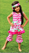 trendy childrens clothing boutique fall 2016 clothes kids flower dress and ruffle pants