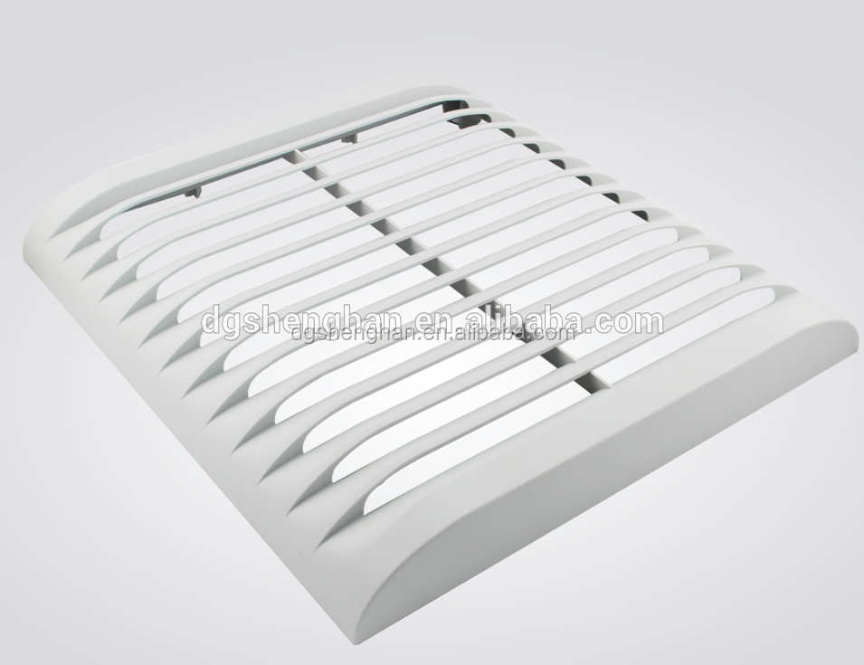 quality dongguancustom plastic injection molding moulding for air cooler fan vent cap molds