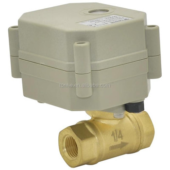 IP67 Miniature electric water valve with automatic water shut off system (T8-B2-C)