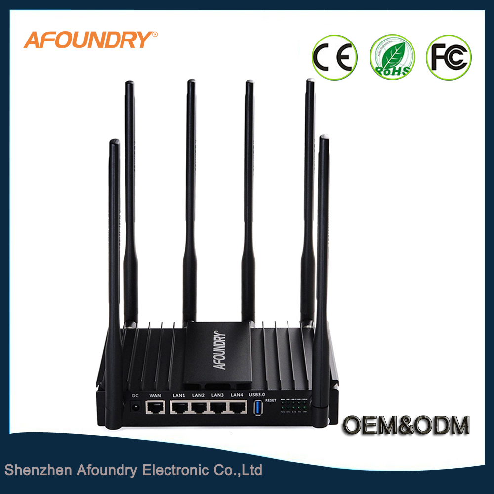 OEM 1200Mbps Dual Band Wireless Router Metal Computer Router