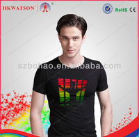 China Import Direct EL Sound Sensor T-Shirt